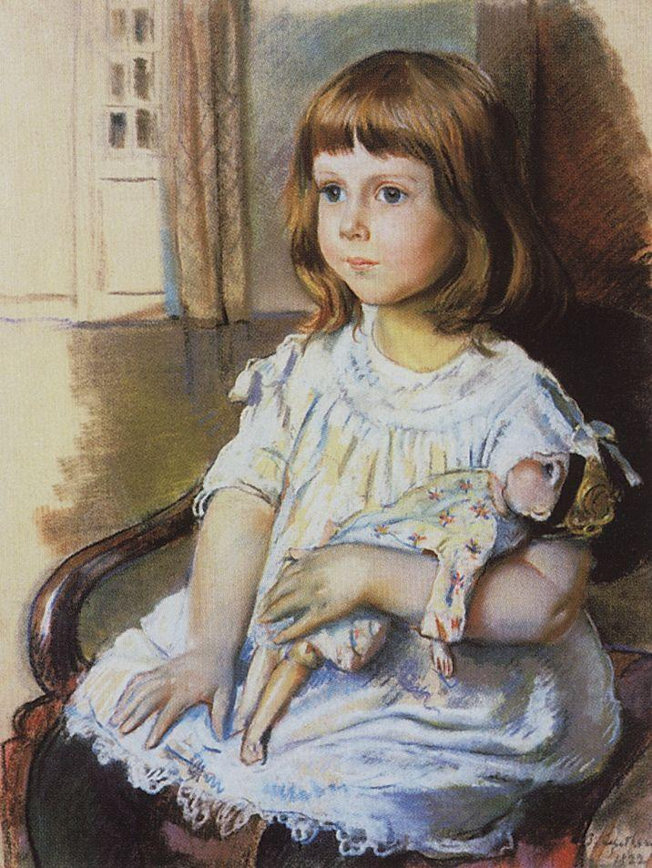 Zinaida Serebriakova - Girl with a Doll (1921)