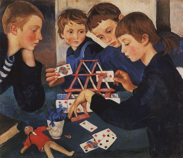 Zinaida Serebriakova - House of Cards (1919)