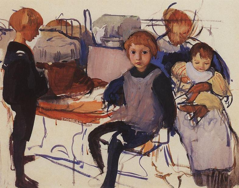 Zinaida Serebriakova - In the Nursery (1913)