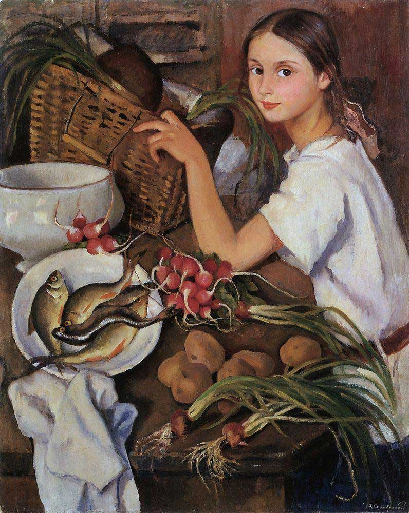Zinaida Serebriakova - Tata with Vegetables (1923)