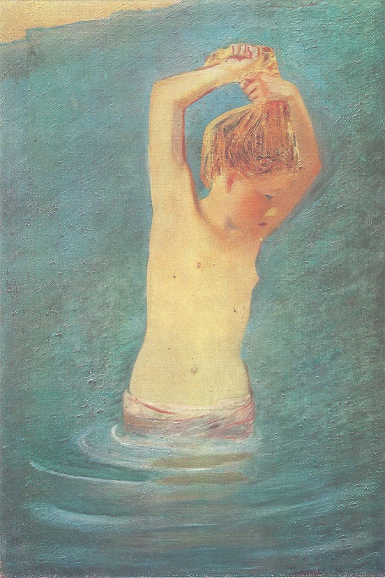 A. Pakhomov - Girl Bathing (1927)