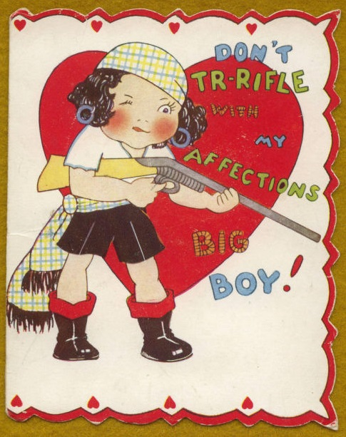 rifle valentine card