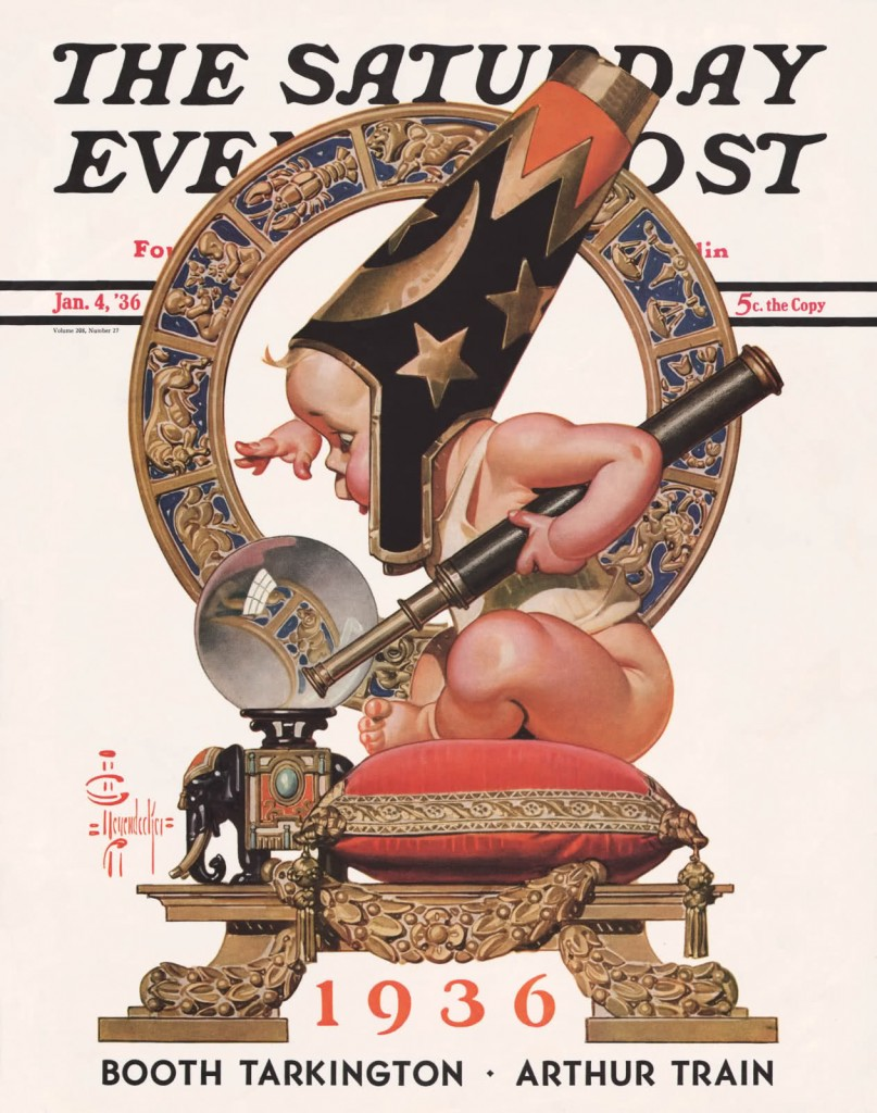 J.C. Leyendecker - Saturday Evening Post - January 4, 1936 (cover)