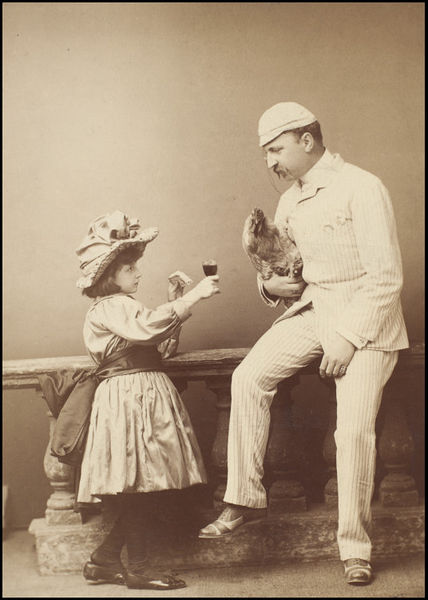 Elliott & Fry - Minnie Terry as Mignon and C.W. Garthorne as Captain Lucy in Bootle's Baby (1888)
