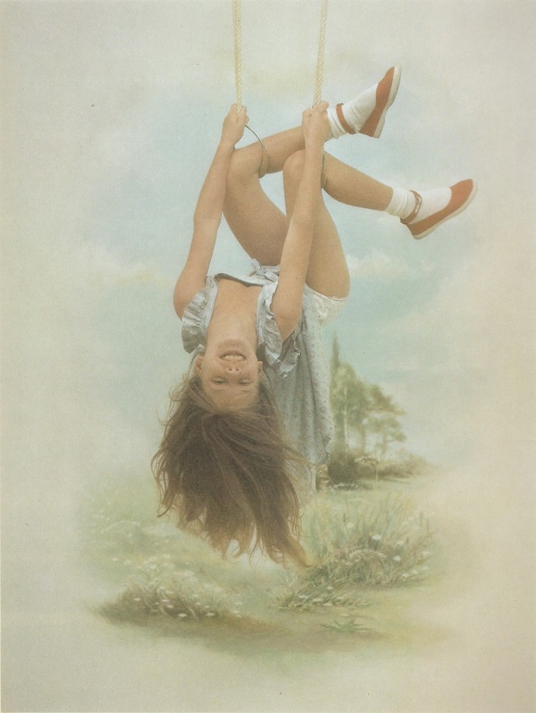 François Gillet - Girl hanging upside-down (1982)