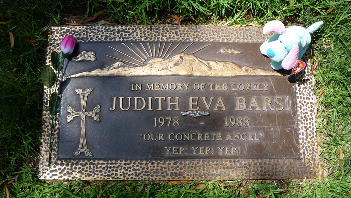 Photographer Unknown - Judith Barsi's Headstone in Forest Lawn Memorial Park