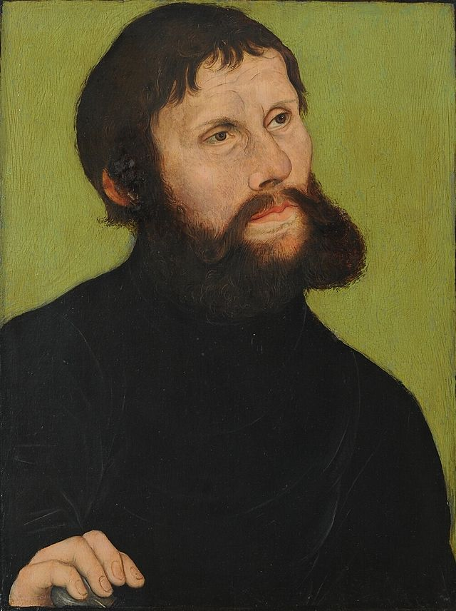 Lucas Cranach - Portrait of Martin Luther as Junker Jörg