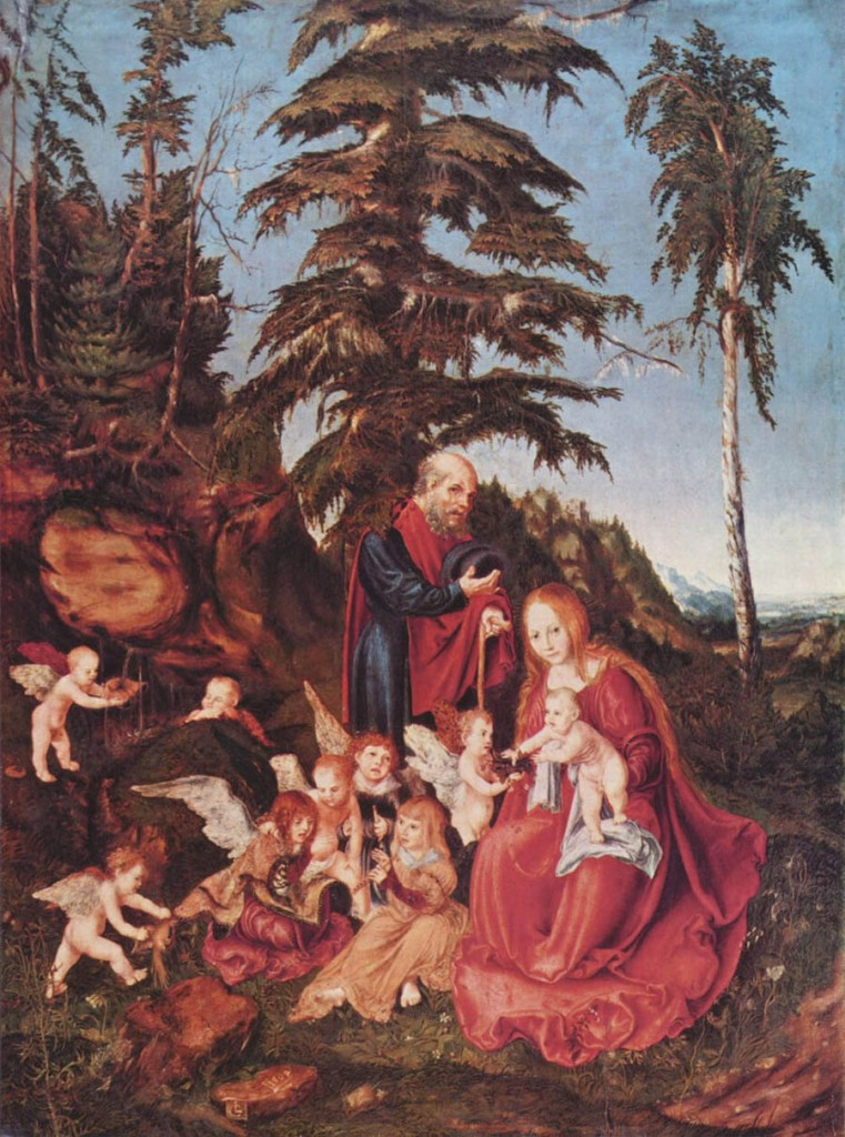 Lucas Cranach - Rest on the Flight into Egypt (1504)