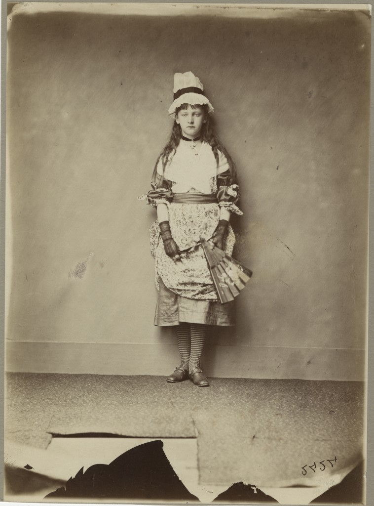 Charles L. Dodgson - Xie Kitchin as Penelope Boothby, standing (1875-1876)