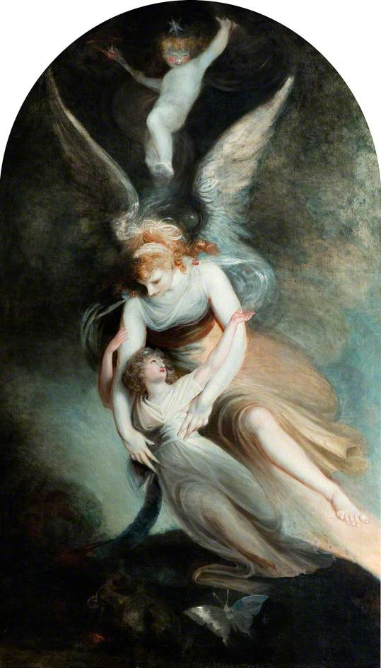 Henry Fuseli -The Apotheosis of Penelope Boothby (1792)