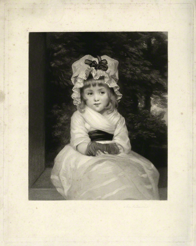 Samuel Cousins, after Joshua Reynolds - Penelope Boothby (1874)