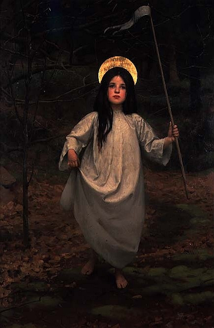 Thomas Cooper Gotch – The Flag (1910)