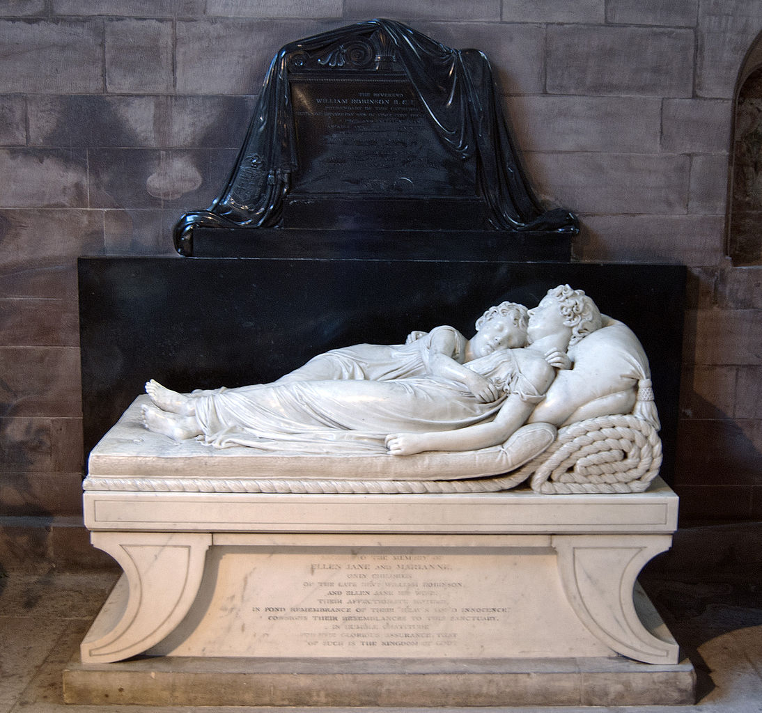 Francis Chantrey - The Sleeping Children (1817) - photographed for Wikipedia by Bs0u10e01 (8 June 2011)
