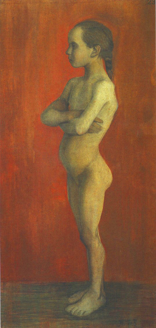 Paula Becker - Standing Girl Nude,Turned Left, c. 1898 (cat. 109)