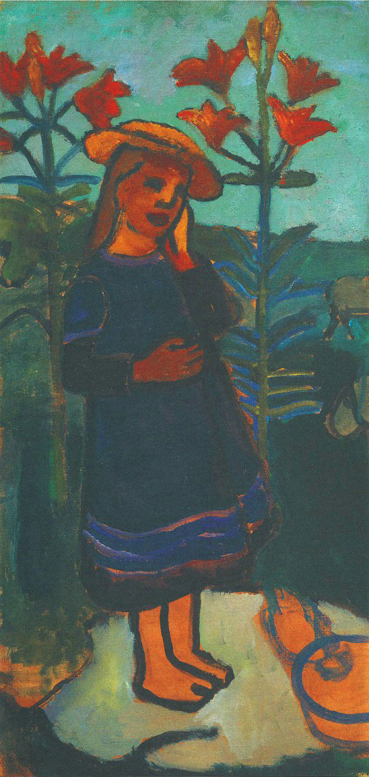 Paula Modersohn-Becker - Elsbeth among Fire Lilies, 1907 (cat. 91)