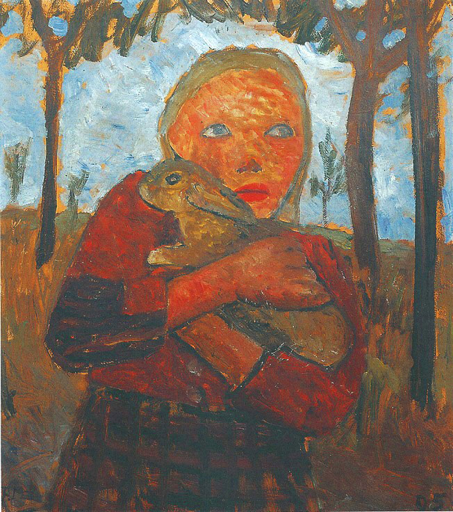 Paula Modersohn-Becker - Girl with Rabbit in Her Arms, 1905 (cat. 58)