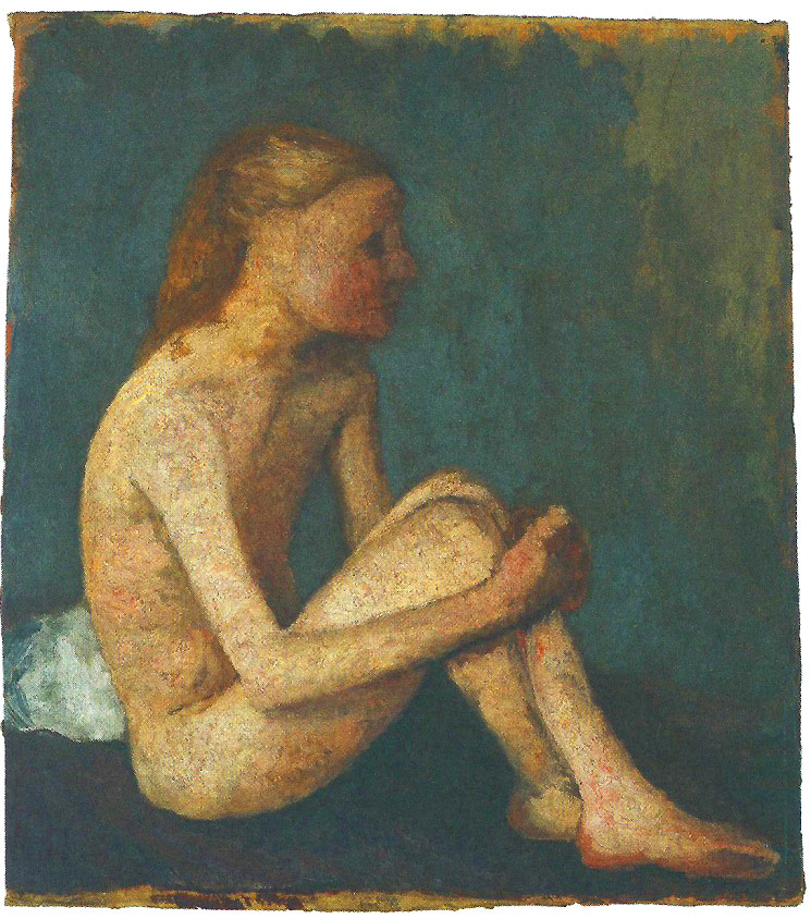 Paula Modersohn-Becker - Seated Girl Nude, Turned to the Right, 1903 (cat. 35)