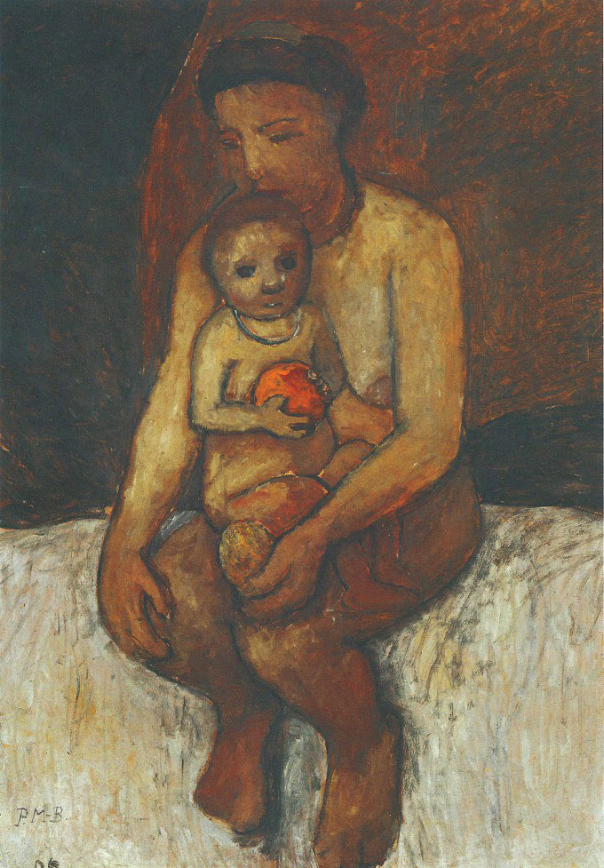 Paula Modersohn-Becker - Seated Mother with a Child in Her Lap, May/June 1906 (cat. 76)