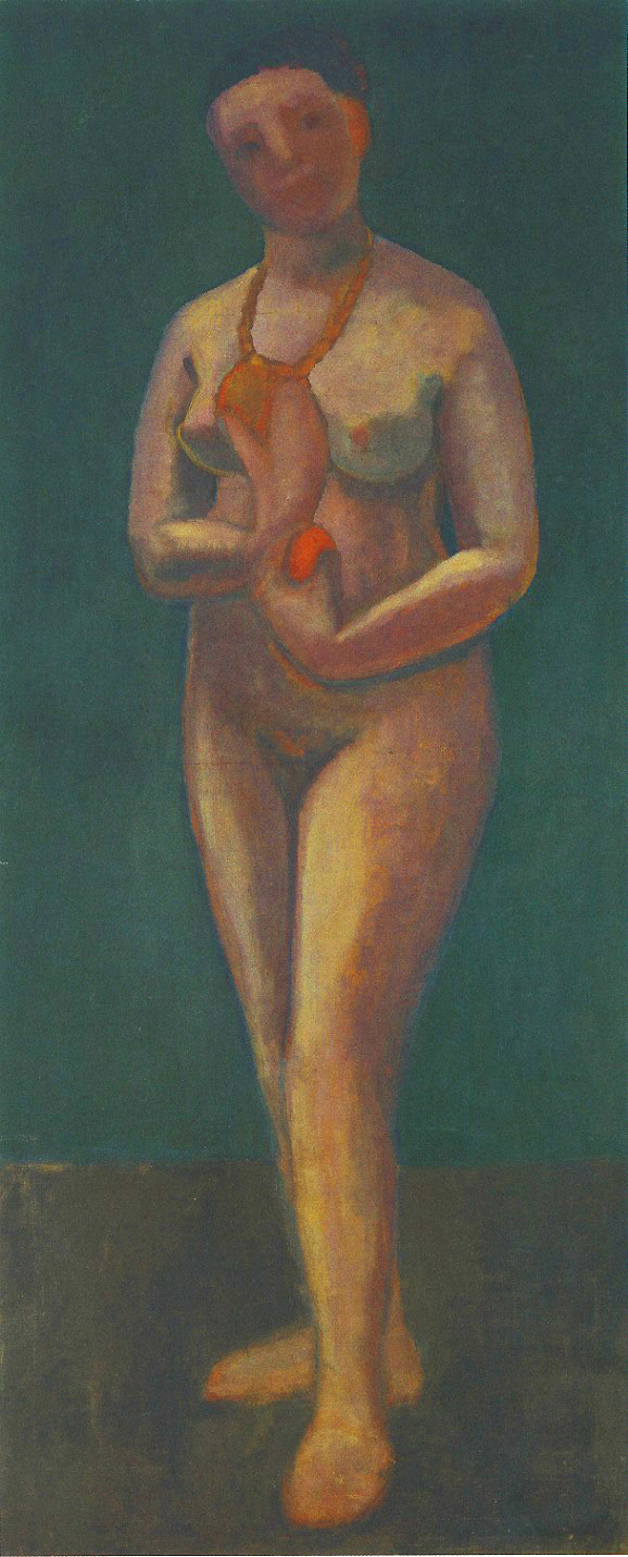 Paula Modersohn-Becker - Self-Portrait as a Standing Nude, Summer 1906 (cat. 68)