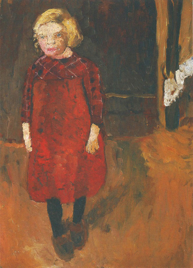 Paula Modersohn-Becker - Standing Girl in Front of a Goat Shed, 1902 (cat. 27)