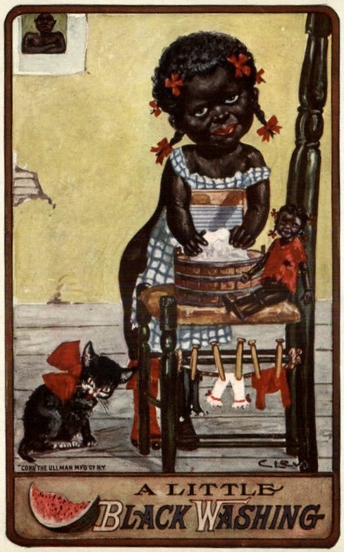 C. Levi - Kute Koon Kids: A Little Black Washing (c1910)