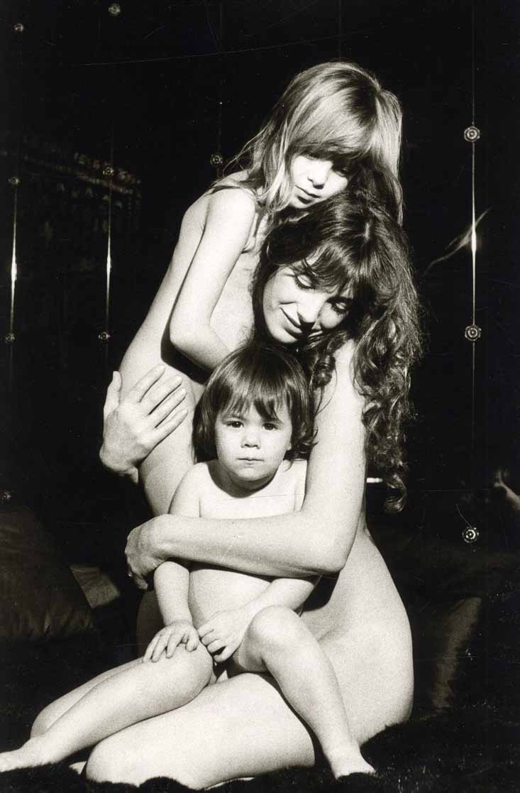 Giancarlo Botti - Jane Birkin with Kate Barry & Charlotte Gainsbourg (c1977)