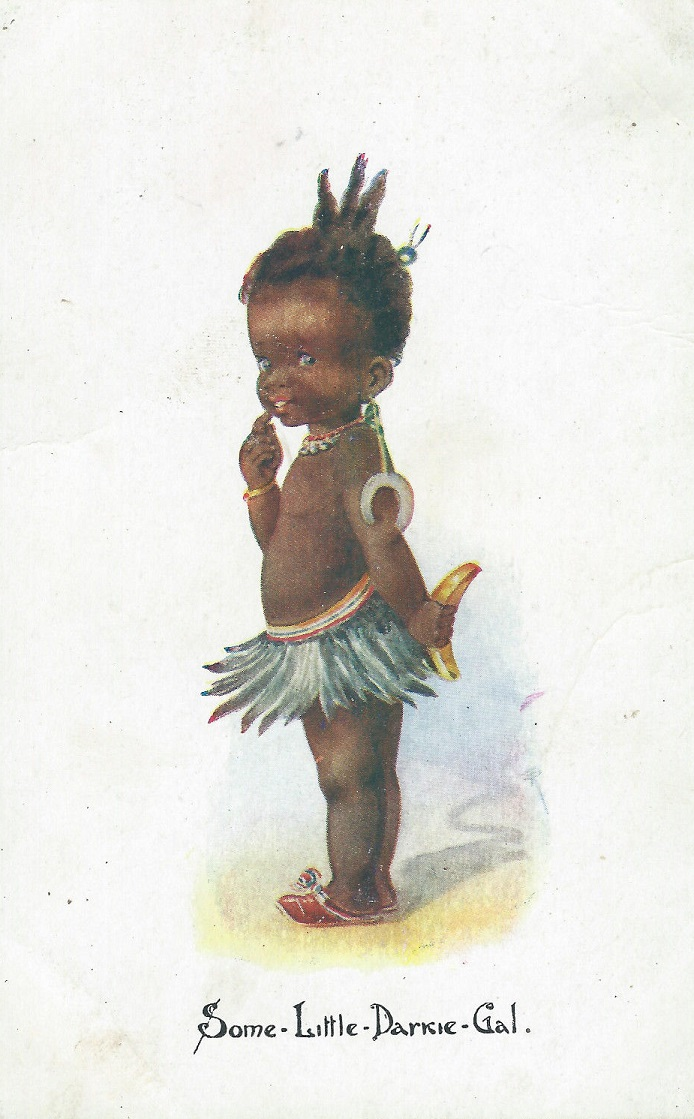 (Artist Unknown) - Some Little Darkie Gal Trading Card (1920s)