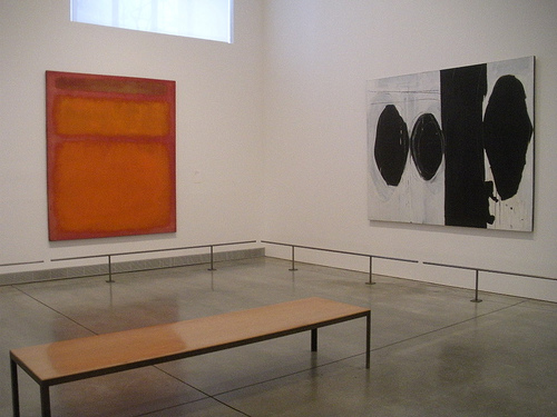 Mark Rothko and Robert Motherwell paintings modern wing Piladelphia Museum