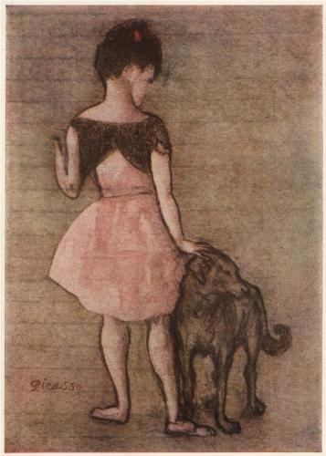 Picasso Girl with Dog 1905