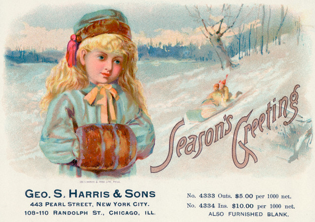 Geo. S. Harris & Sons - Advertisement For Greeting Cards (c1880)