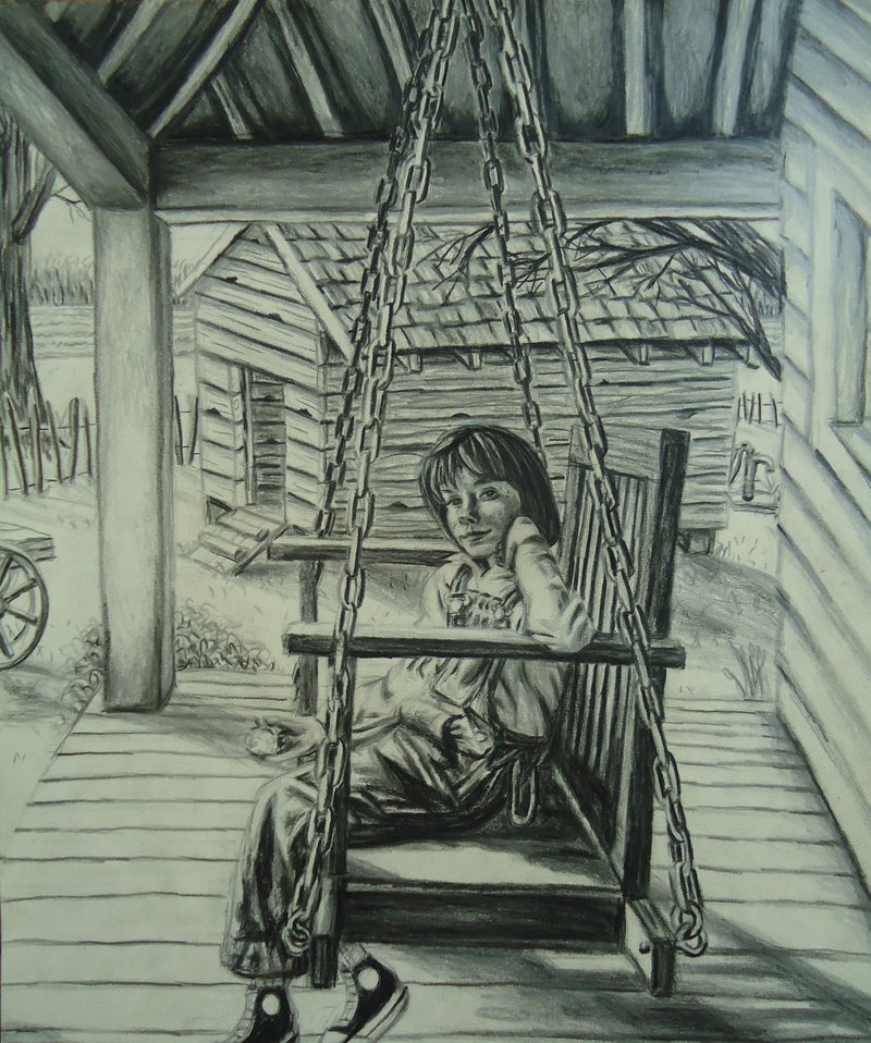 Jeremy Osborne - Scout Finch on the Porch Swing
