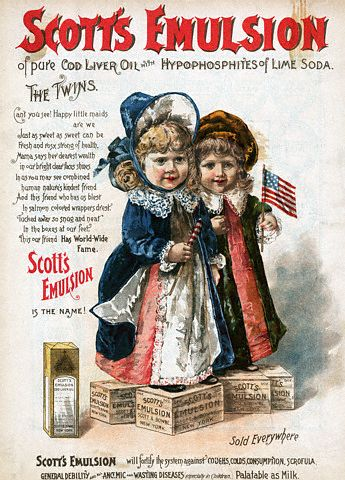 Scott's Emulsion of Pure Cod Liver Oil with Hypophosphites of Lime Soda Advertisement (c1890)