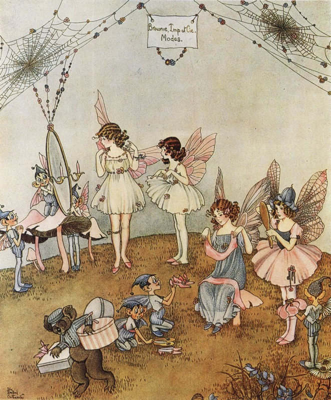 Ida Rentoul Outhwaite - A Fairy Frock from the book The Enchanted Forest (1921)