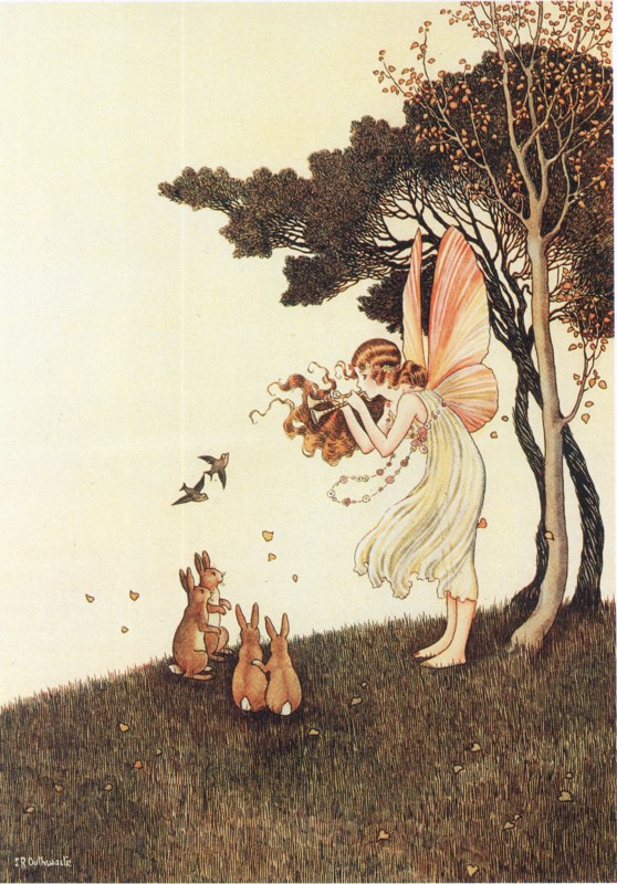 Ida Rentoul Outhwaite - Anne Plays the Pipes (1921)