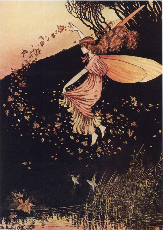 Ida Rentoul Outhwaite - Autumn Fairy from the book Elves and Fairies (1916)