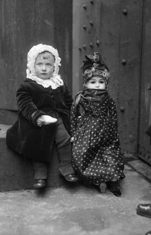 (Photographer Unknown) - Girl Sitting Beside Doll (1922)