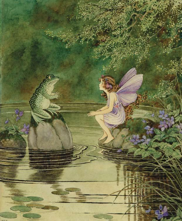 Ida Rentoul Outhwaite - I am Kexy Friend to Fairies from the book The Little Green Road to Fairyland (1922)