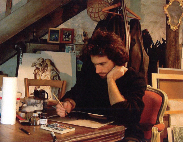 (Unknown photographer) - Alexandre Lamotte at work