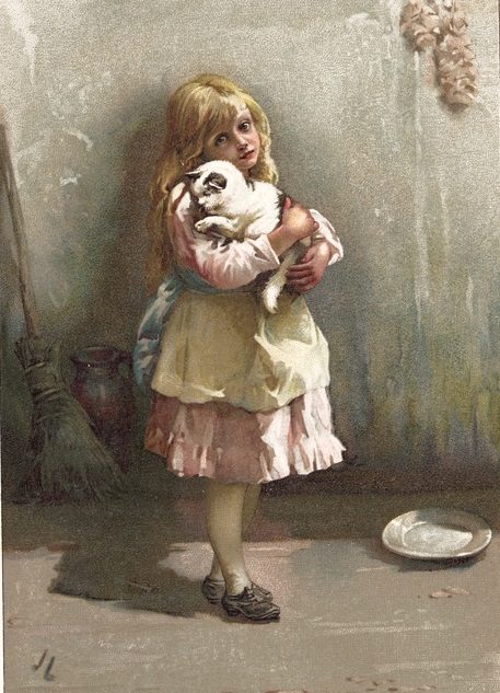 John Lawson - Little Pussy, from the book Childhood Valley (1889)