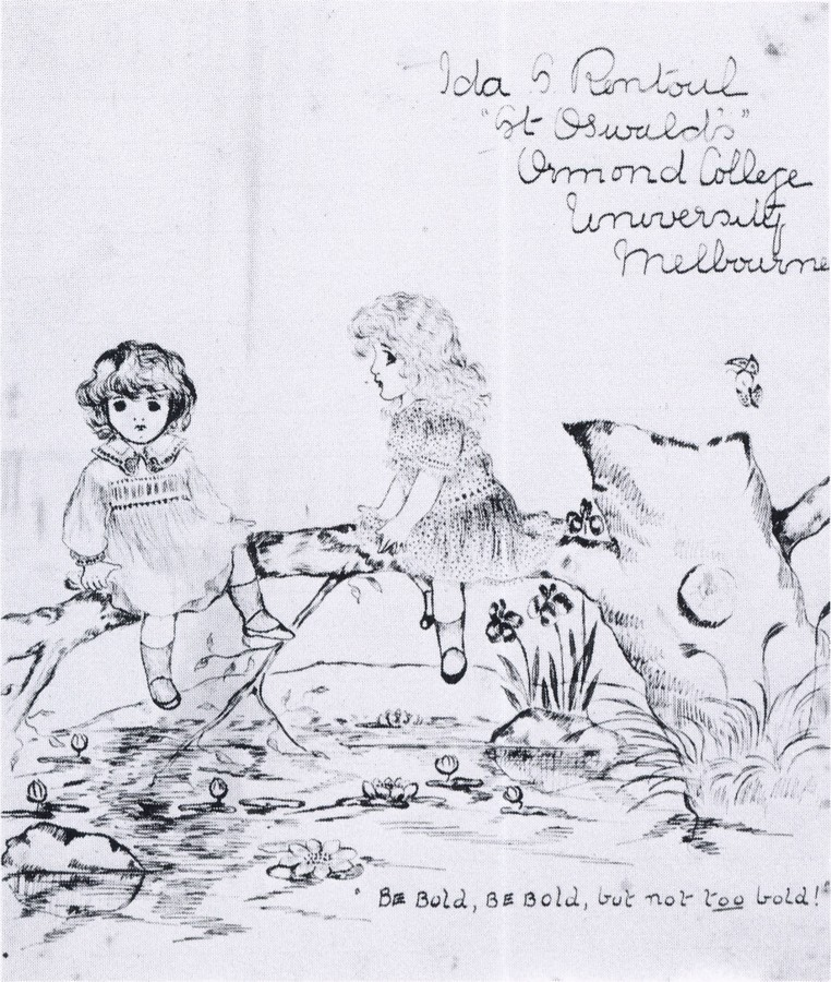Ida Rentoul - Sketch from her school book (Date Unknown)