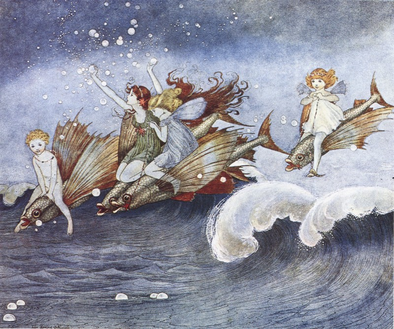 Ida Rentoul Outhwaite - The Sea Fairies from the book Elves and Fairies (1916)