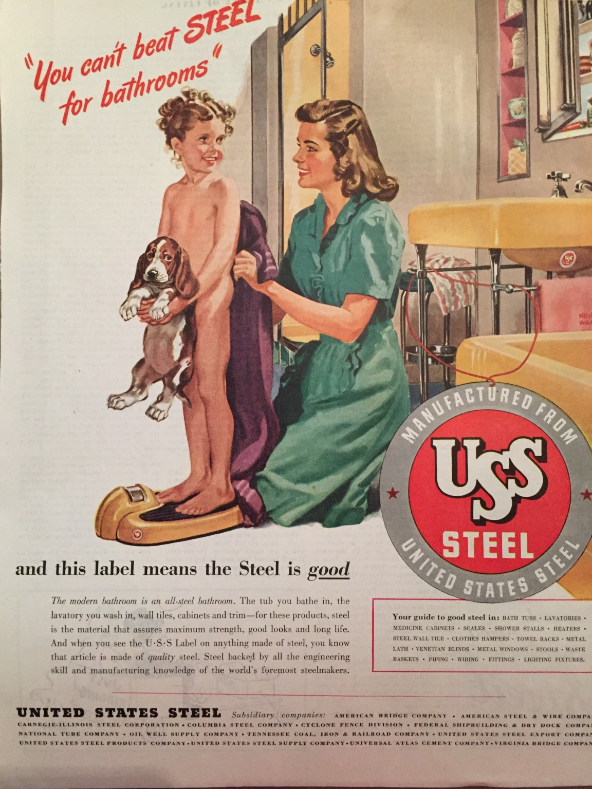 Keith Ward - US Steel Advertisement (Undated)