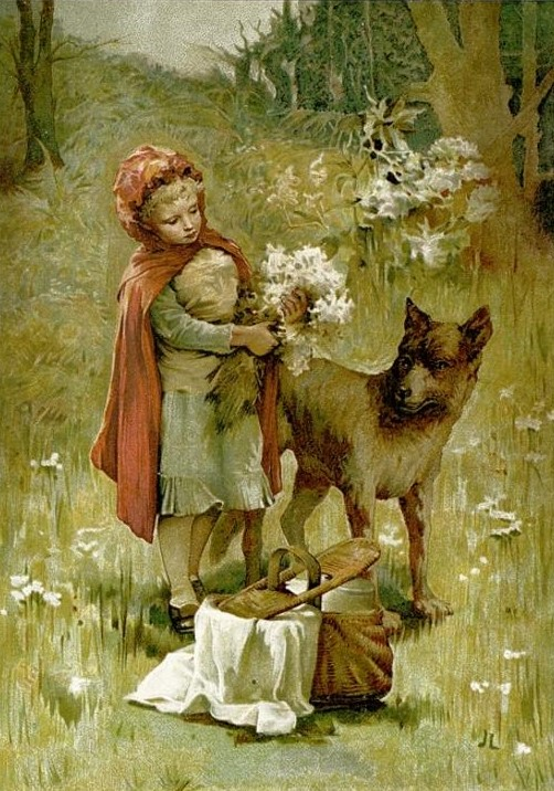 John Lawson - Red Riding Hood from the book There Was Once (1888)