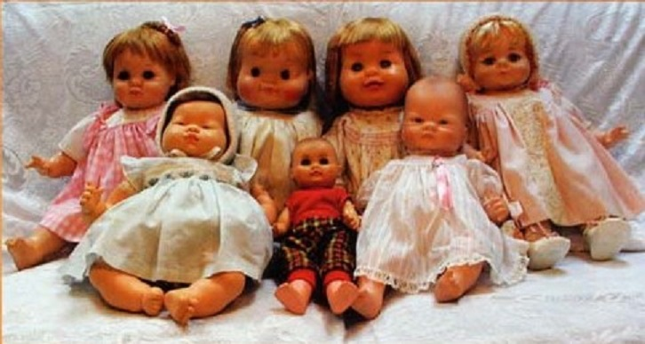 Image of seven dolls all created by Eloise Wilkin