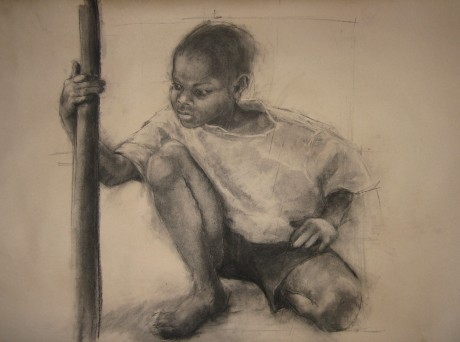 Teresa Riba - Nen (charcoal) (Date Unknown)