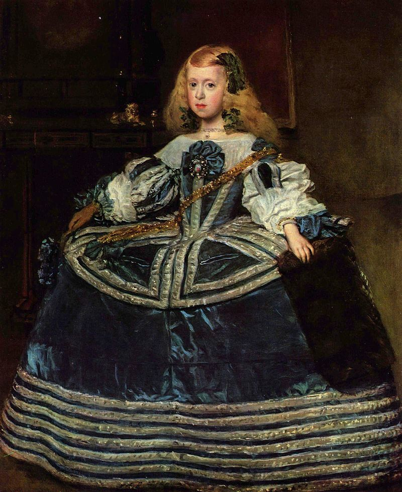 Diego Velázquez - Margarita Teresa in a Blue Dress (1659)