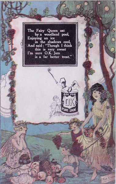 Pixie O'Harris - Advertisement for OK Pure Jam (1923)