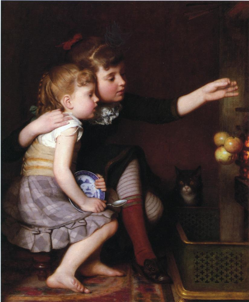 Seymour Guy - One for Mommy, One for Me (1881)