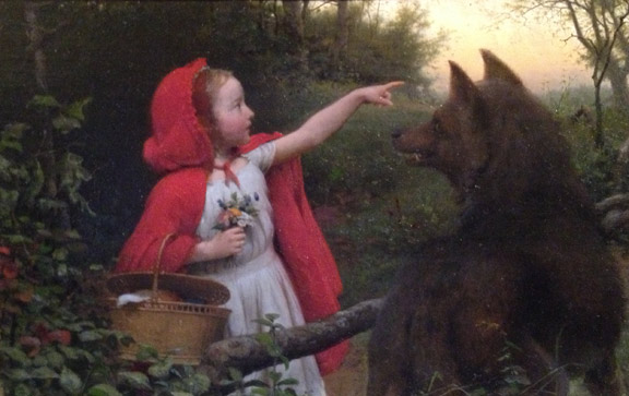 Seymour Guy - Red Riding Hood (1866)