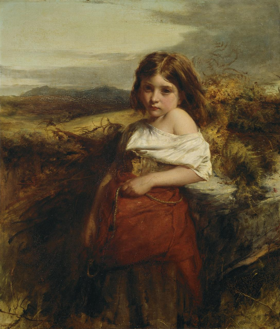 Robert Herdman - A fern gatherer West Highlands (1864)